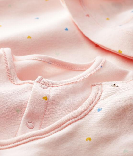 Coffret cadeau naissance bébé fille en côte lot .