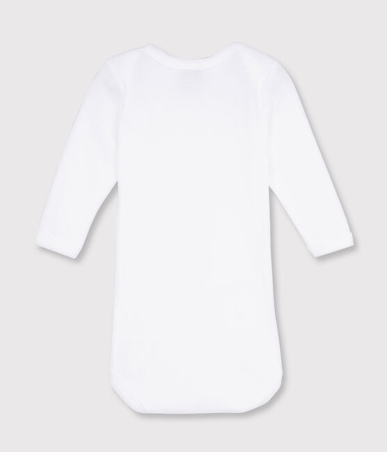 Body blanc manches longues bébé blanc Ecume