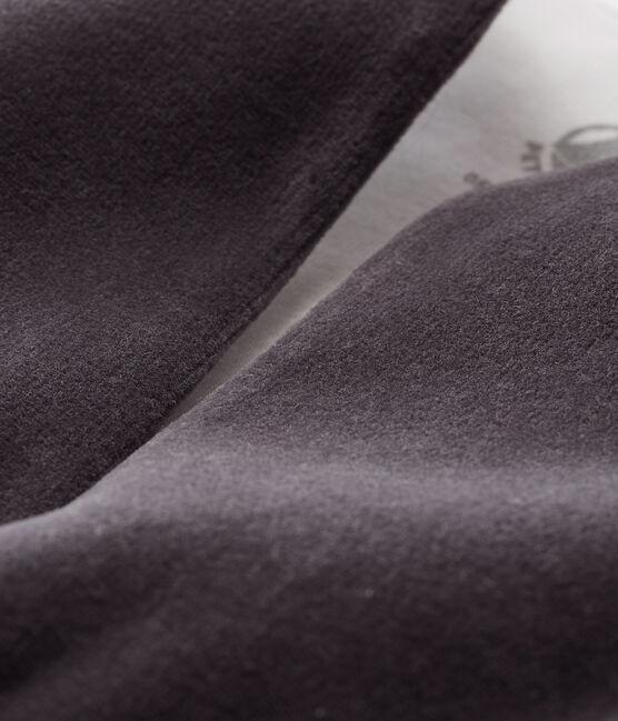 Gilet sans manches bébé en velours gris Capecod