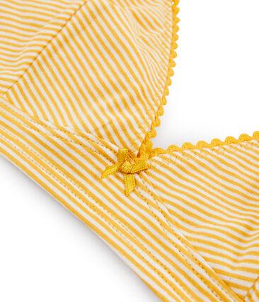 Soutien-gorge triangle femme jaune Boudor / blanc Marshmallow
