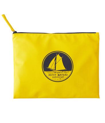 Pochette unie jaune Jaune