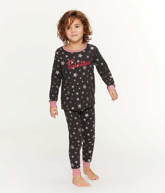 Pyjama petit garçon en côte gris Capecod / gris Argent