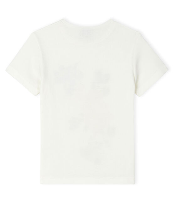 Tee-shirt manches courtes enfant fille blanc Marshmallow