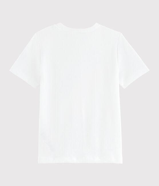 Tee shirt sérigraphié enfant fille blanc Ecume