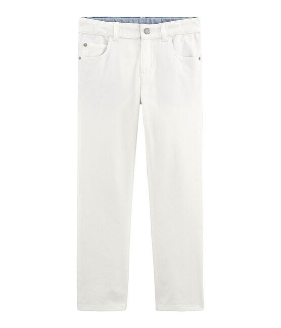 Pantalon enfant garçon blanc Marshmallow