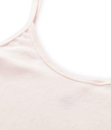 Chemise à bretelles femme en coton léger rose Fleur