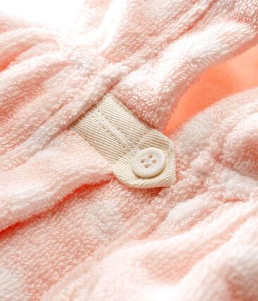 Cape de bain bébé fille en éponge