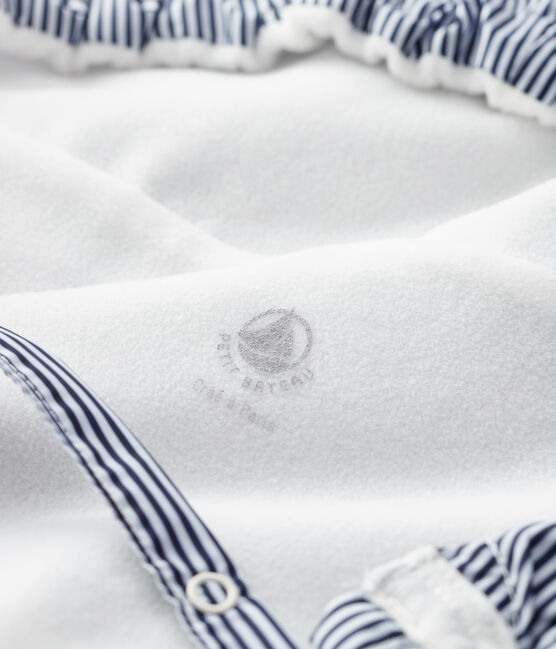 Protège porte-bébé bleu Smoking / blanc Marshmallow