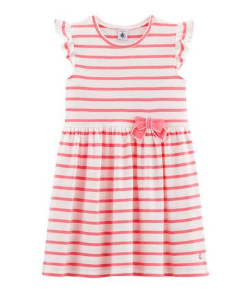 Robe enfant fille blanc Marshmallow / rose Cupcake