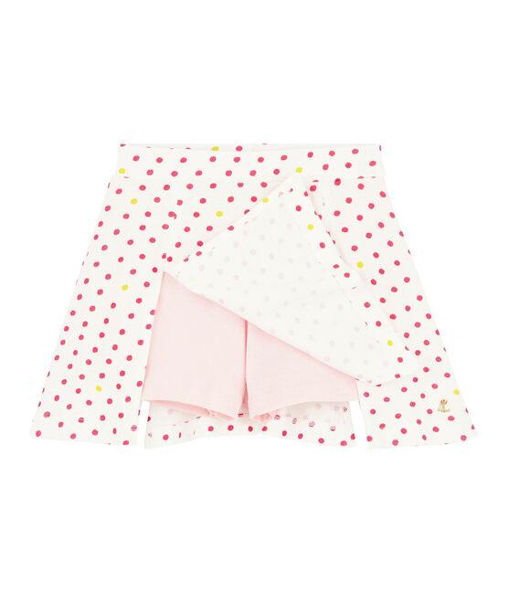 Jupe-Short en coton enfant fille blanc Marshmallow / blanc Multico Cn