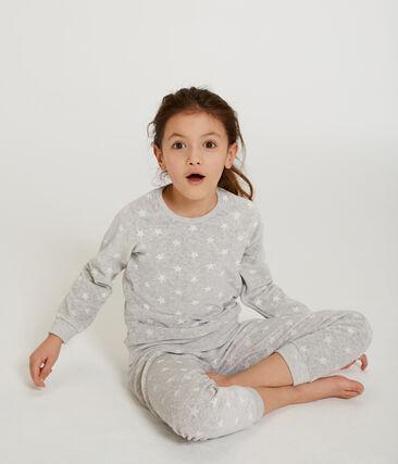 Pyjama petite fille en velours