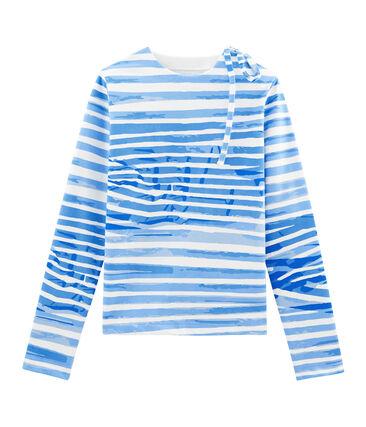 Marinière blanc Marshmallow / bleu Bleu