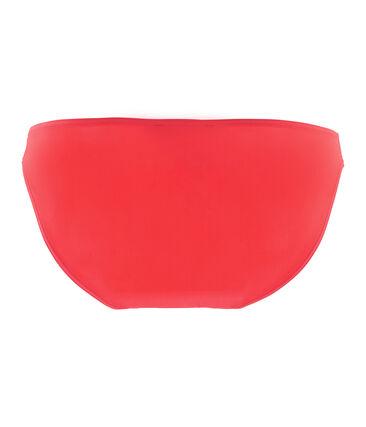 Bas de maillot de bain uni femme rose Groseiller