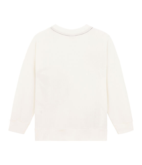 Sweat shirt enfant fille - garçon blanc Marshmallow