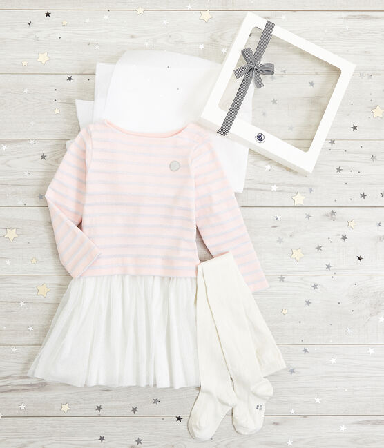 Ensemble robe et collants enfant fille lot .