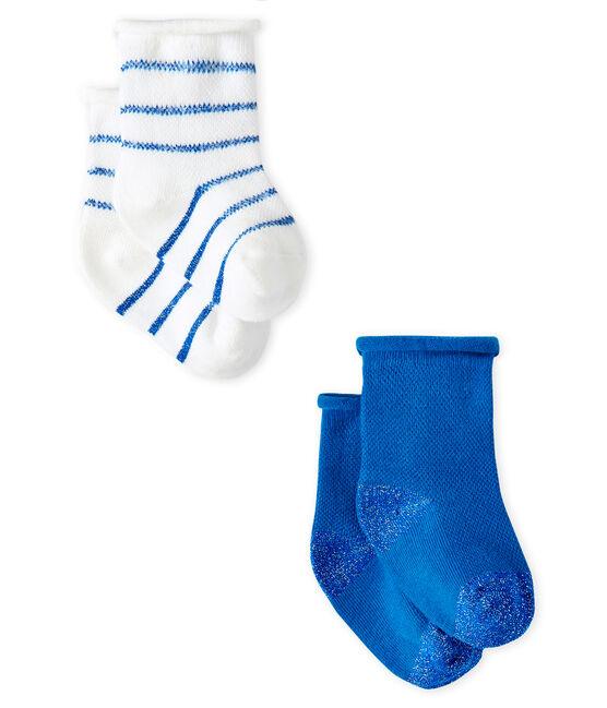Lot de 2 paires de chaussettes légères bébé fille lot .