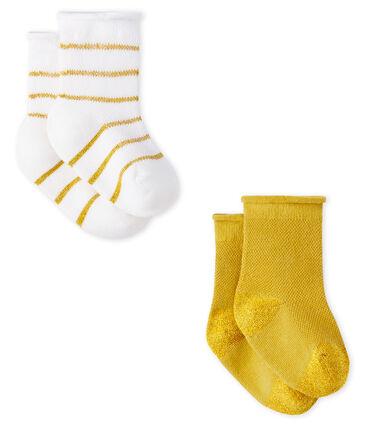 Lot de 2 paires de chaussettes légères bébé fille