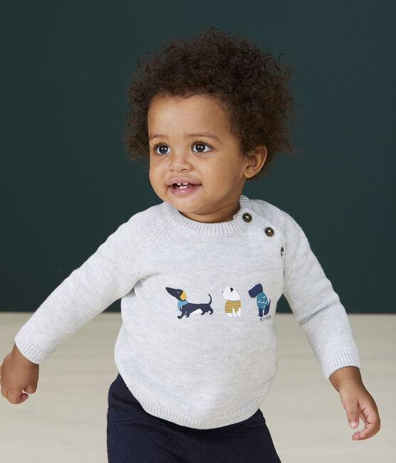Pull à motif bébé garçon gris Beluga