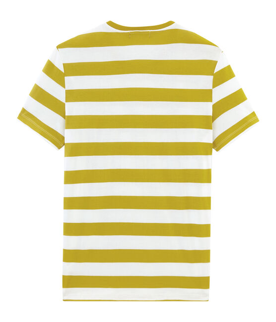 Tee-shirt manches courtes homme jaune Bamboo / blanc Marshmallow