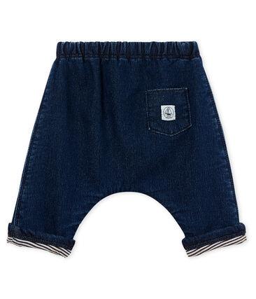 Pantalon bébé mixte maille effet denim