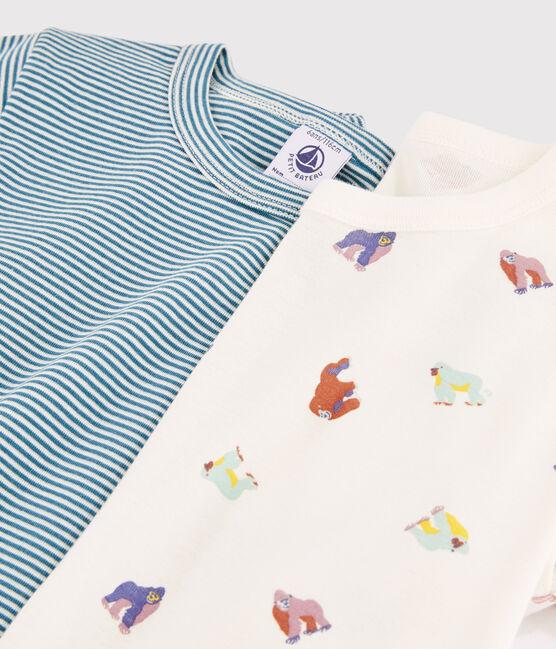 Lot de 2 tee-shirts motifs manches courtes imprimé singe petit garçon lot .