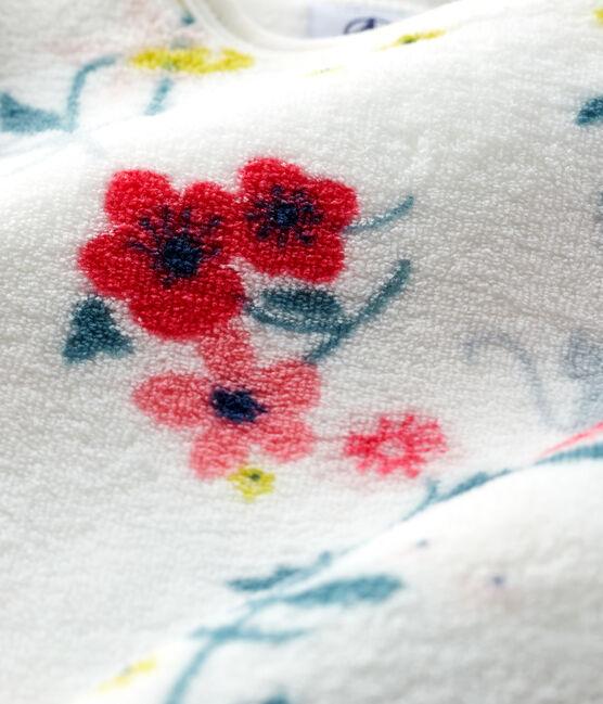 Surpyjama à imprimé fleuri bébé fille en polaire blanc Marshmallow / blanc Multico
