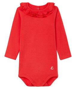 Body manches longues avec collerette bébé fille rouge Signal