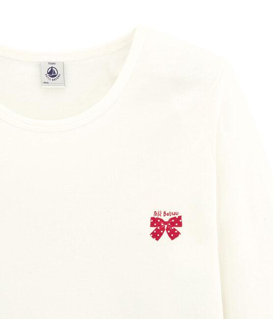 Pyjama fille bimatière à carreaux rouge Terkuit / blanc Marshmallow