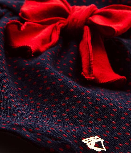 Robe bébé fille imprimée bleu Smoking / rouge Terkuit