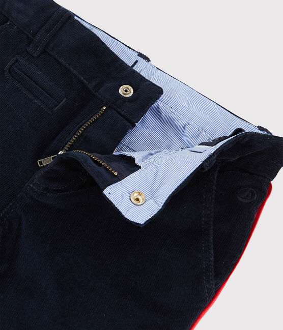 Pantalon en velours enfant garçon bleu Smoking
