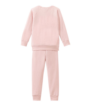Pyjama petite fille en bouclette éponge grattée extra chaude