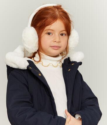 Cache-oreilles enfant fille blanc Marshmallow