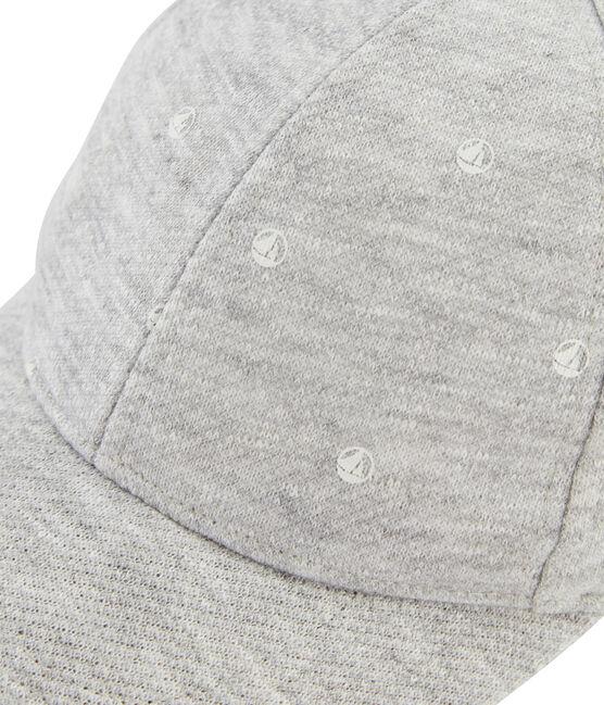 Casquette en jersey enfant mixte gris Beluga