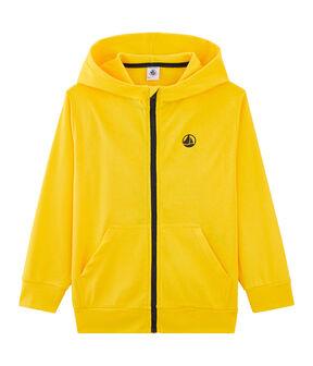 Sweat shirt enfant jaune Shine