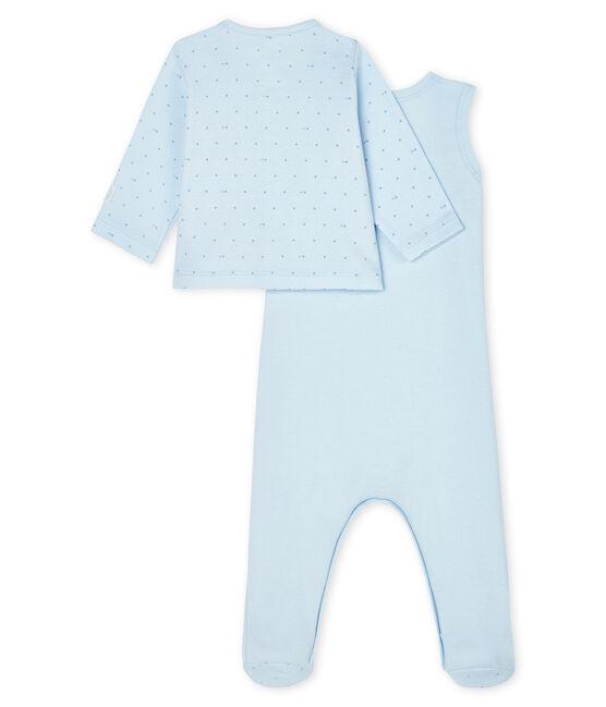 Ensemble bébé 2 pièces en côte bleu Fraicheur / bleu Acier
