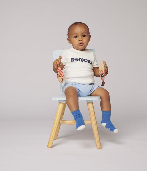 Tshirt en coton bébé. blanc Marshmallow
