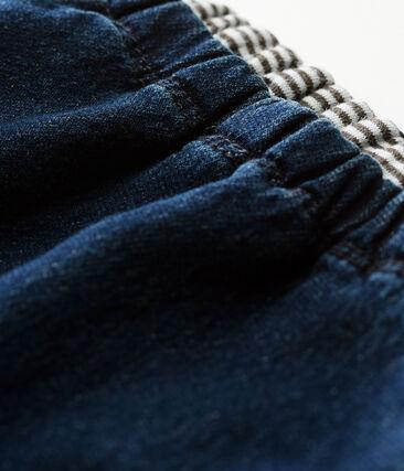 Pantalon double maille effet denim bébé mixte bleu Denim Bleu Fonce