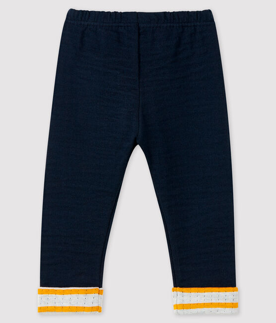 Pantalon bébé garçon en tubique bleu Smoking