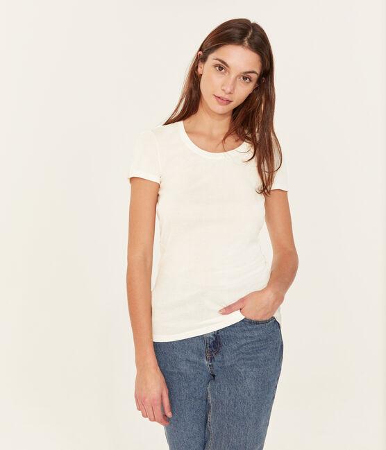 Tee shirt iconique femme blanc Ecume