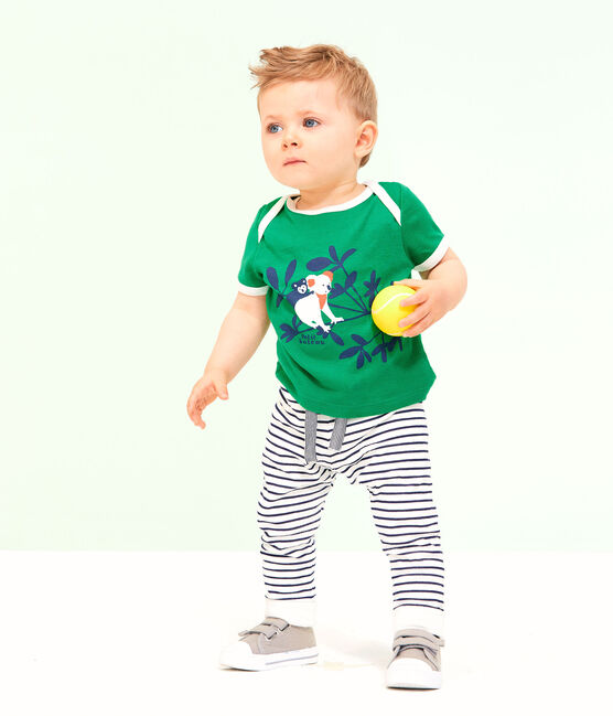 Tee-shirt manches courtes bébé garçon vert Prado
