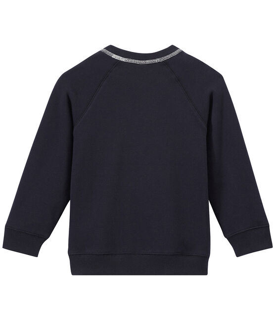 Sweat shirt garçon en molleton bleu Smoking