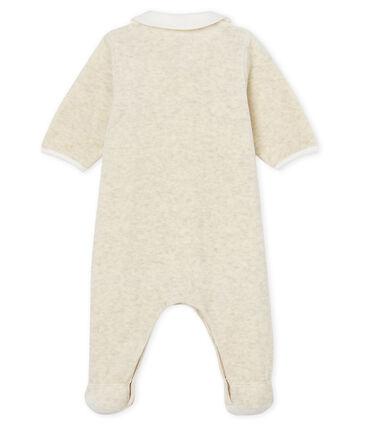 Dors-bien et bavoir bébé mixte en velours de coton