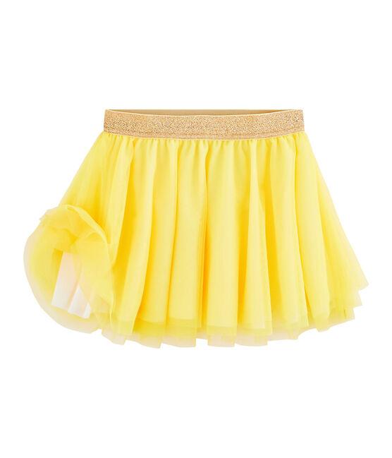 Jupe enfant fille jaune Eblouis