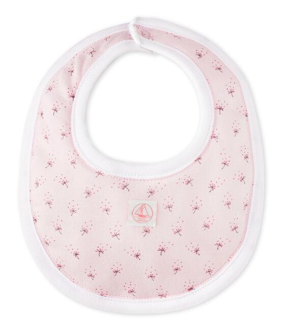 Bavoir bébé mixte imprimé rose Vienne / blanc Multico