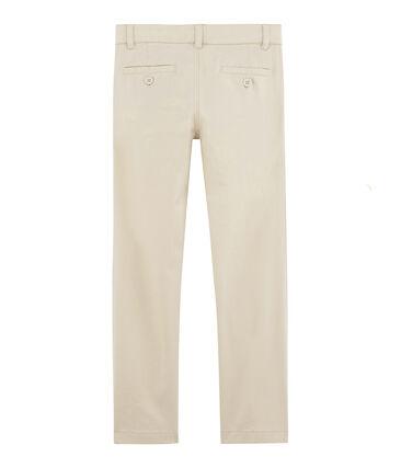 Pantalon enfant garcon blanc Feta