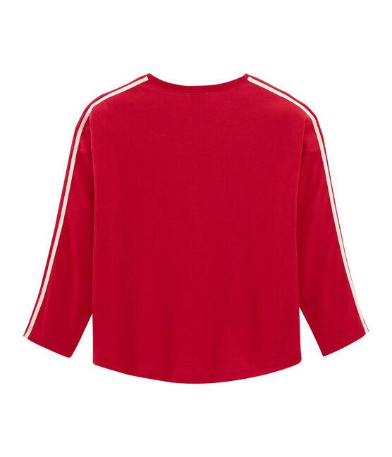 Tee-shirt à manches longues rouge Terkuit