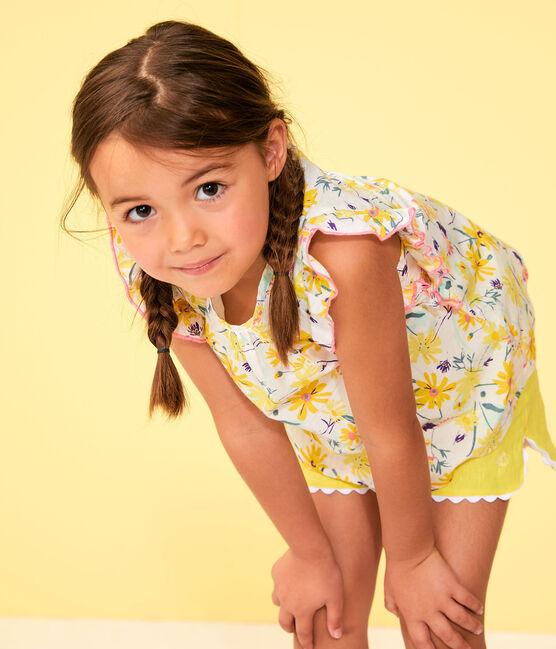 Blouse enfant fille blanc Marshmallow / blanc Multico
