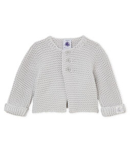 Cardigan point mousse bébé mixte