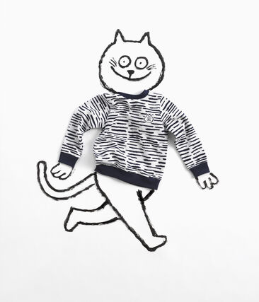 Sweat shirt Jean Jullien MARSHMALLOW/DASH