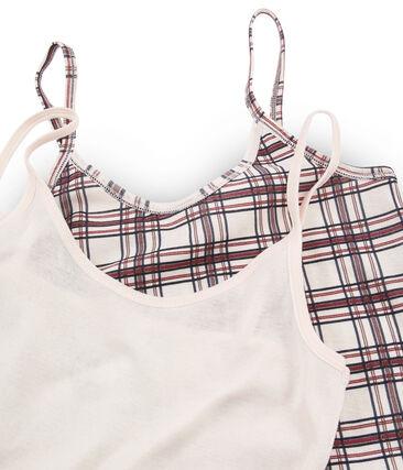 Lot de 2 chemises à bretelles femme